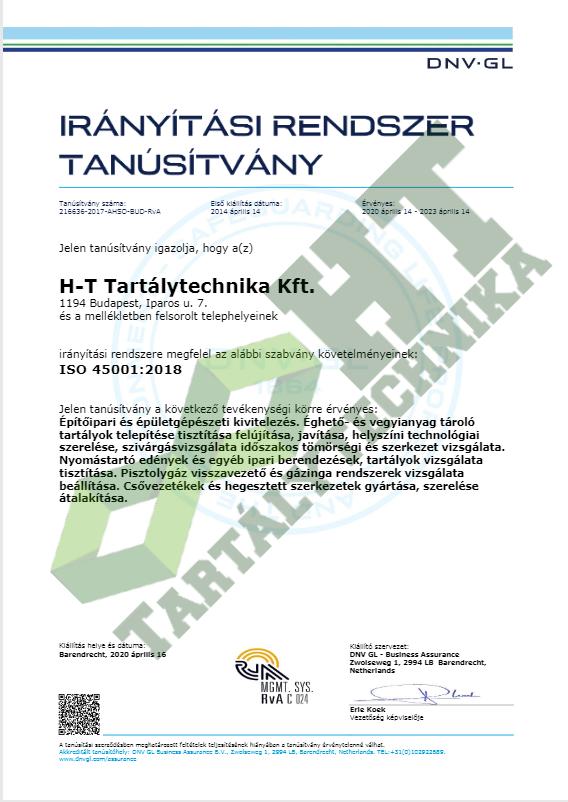 ISO 45001:2018 magyar